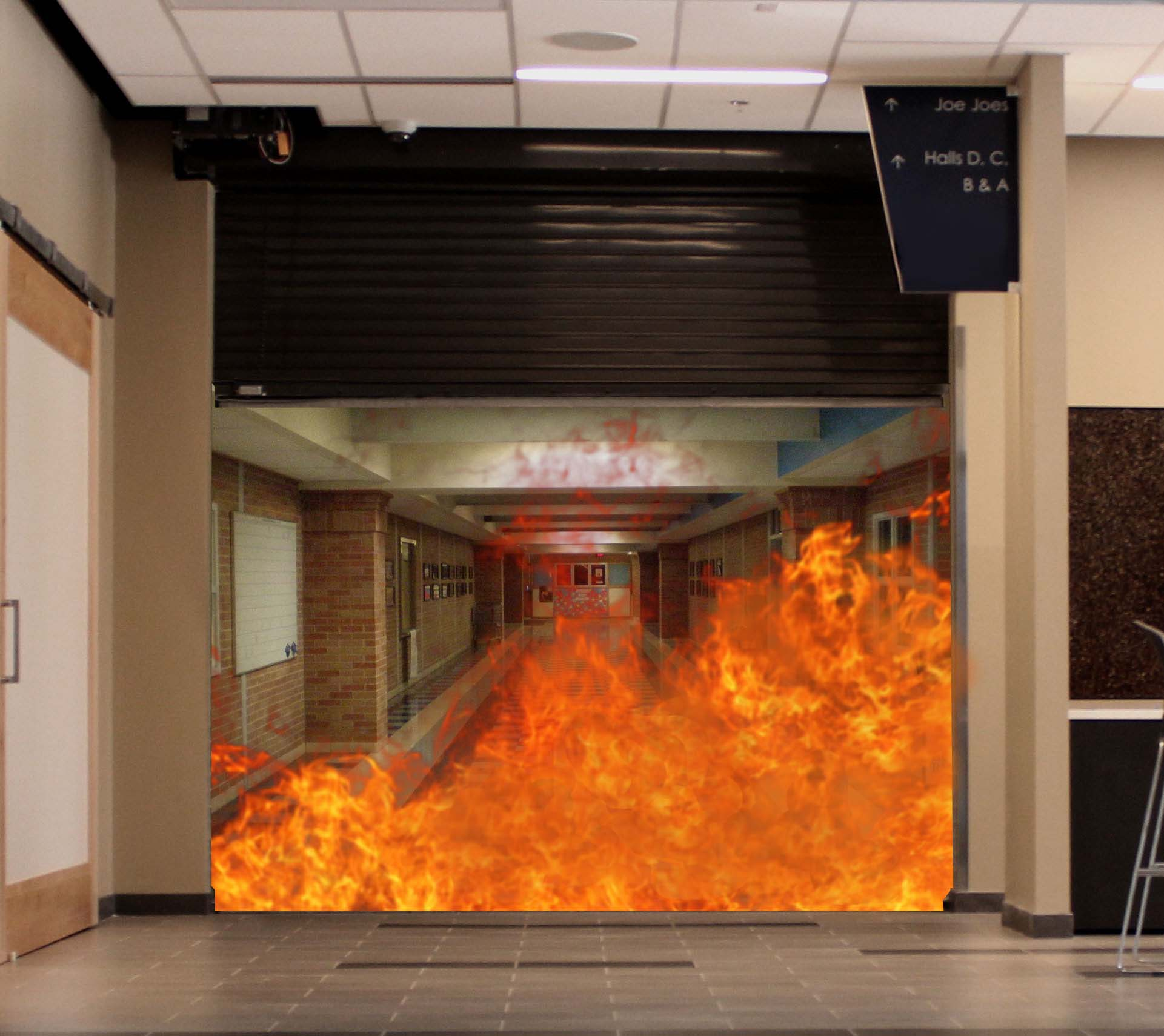 Fire Door with Fire Behind 2015